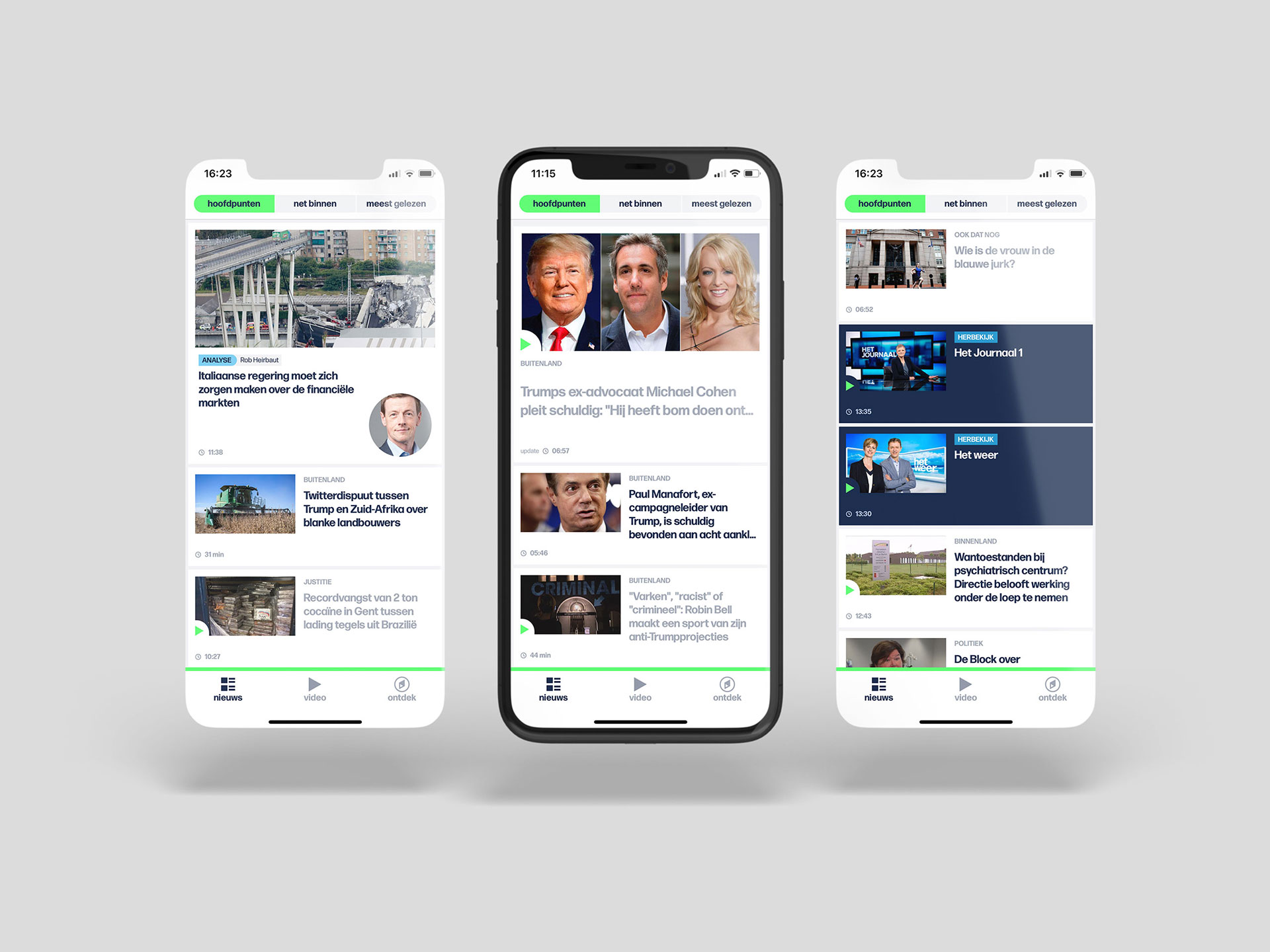 VRT NWS app and website redesign